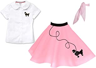 Hip Hop 50s Shop Child 3 Piece Poodle Skirt Outfit