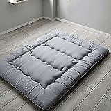kkcd materasso tatami spesso pieghevole, materasso futon giapponese, materasso futon arrotolabile, materasso giapponese morbido con coprimaterasso lavabile,grigio,120x190cm(47 * 74inch)