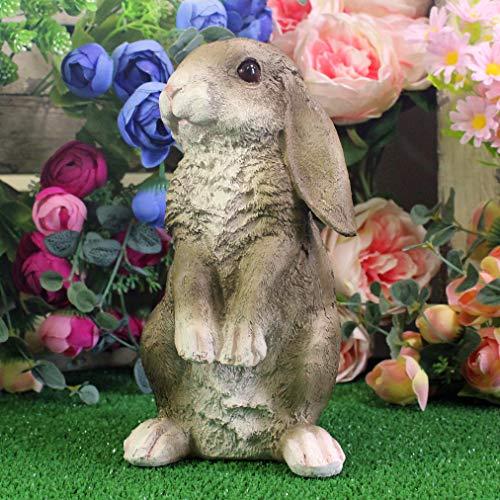 Lop Eared Rabbit Ornament Lawn Patio Garden Sculpture Bunny Statue Resin Home Decor New Gift Grey Rabbit