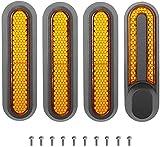 Juego de 4 cubiertas reflectantes para rueda trasera, cubierta trasera y reflector de plástico, repuesto para scooter eléctrico Xiaomi M365 1S Pro Pro2, color naranja