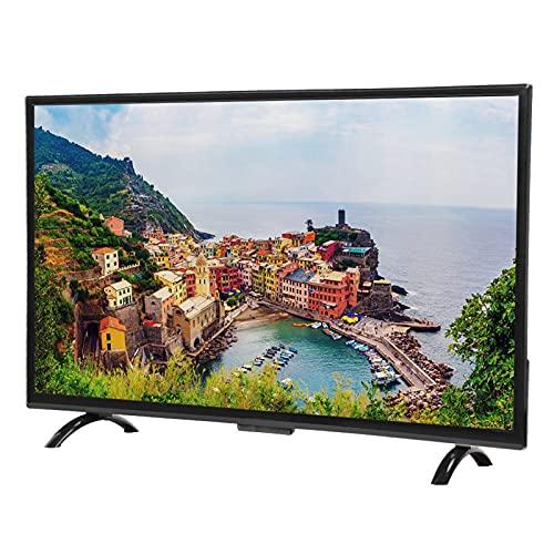 Topiky Smart TV con Pantalla Curva 4K HDR de 32 Pulgadas Resolución 1920x1200 3000R Curvature Control de Voz Televisión HD con HDMI, VGA, USB, AV Compatibilidad(Enchufe de la UE)