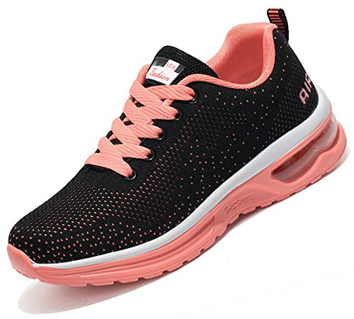 T-Gold Zapatillas de Running para Hombre Mujer Calzado Deportivo Deportivas Verano(EU 39,Naranja)
