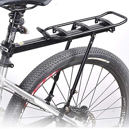 Portapacchi Biciclette,Portapacchi Bici In Alluminio,Portapacchi a Sgancio Rapido 20 Kg Capacità Di Carico Massima Per Reggisella Rotondi Inferiori 31mm