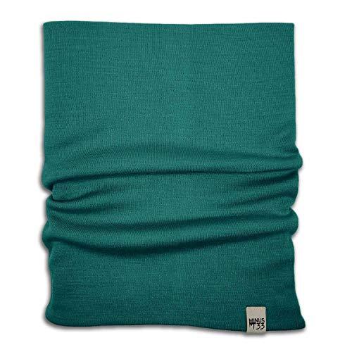Minus33 Merino Wool Midweight Neck Gaiter Emerald Green One Size
