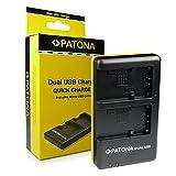 PATONA Cargador Doble para NP-FP30, NP-FP50, NP-FP51 Bateria Compatible con Sony DCR-/ DVD-/ HC-/ HDR- Serien