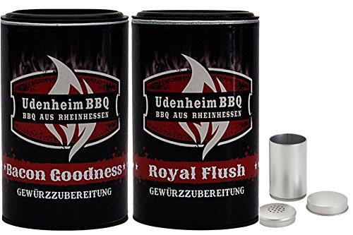 Udenheim Großes Rub Set 2 x 350gr - Bacon Goodness + Royal Flush Rub