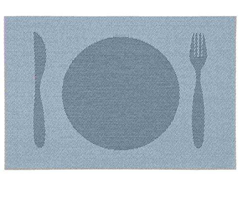 Clayre & Eef 63267 Set de table Sets de table couteau fourchette Lot de 6 Assiettes env. 30 x 45 cm