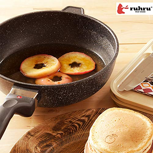 ruhru(ルール)焦げ付きにくいruhru(ルール)健康フライパン10年保証付【正規品】[IH対応]28cm×7.5cm