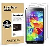 ivoler [Pack de 2] Verre Trempé Compatible avec Samsung Galaxy S5 / S5 Neo [Garantie à Vie], Film...