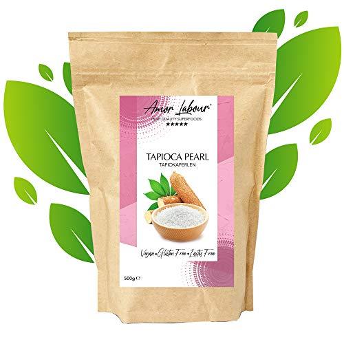 Amor Labour Tapiokaperlen weiß / Bubbles Tea - aufgeweichte Tapiokaperlen / für Fruchtige Dessert / Glutenfrei / Vegan / 750g