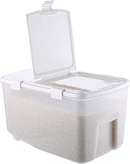 AWAING Bocaux Céréales Conteneurs de riz Boîte de rangement en plastique avec l'humidité Preuve de mesure Cuisine alimenta...