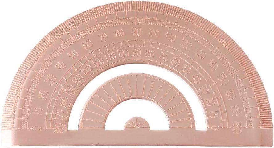 BOBEINI Retro Copper Protractor Semicircle Popularity Measure Ruler Drawing Max 84% OFF