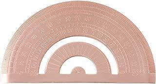 LGQing Retro Copper Protractor Ruler Semicircle Drawing Measurement Math Geometry Tool