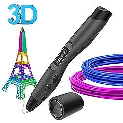 3D Stifte, Aerb 3D Stift 3d Pen mit PLA/ABS Filament, 8 Einstellbare Geschwindigkeit mit LCD-Bildschirm