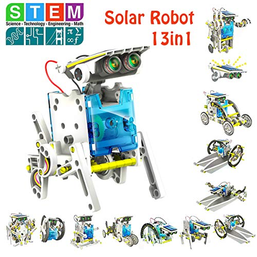 STEM 13-in-1 Education Solar Robot Kits Toys -DIY Building Science Experiment Kit for Kids Robotics...
