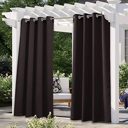 nicetown home patio curtains NICETOWN Outdoor Curtain for Patio Waterproof Extra Long 108