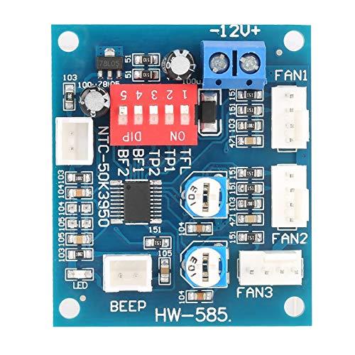 Regulador de velocidad del ventilador de la PC del gobernador del ventilador de la alarma del sonido, para la PC, para el ventilador, para el eléctrico