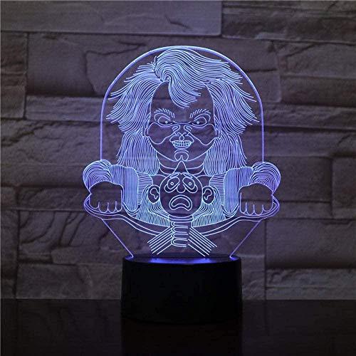 3D Illusie Lamphorror Pop Halloween Gift voor kinderen Super Versierde Woonkamer Kinderen Verjaardag Vakantie Gift