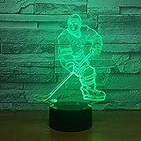 Eishockey Volleyball Hip-Hop Tanz Golf Sport Acryl 3D USB Stereo Nachtlicht Kinder Geschenk Kreative Schlafzimmer Dekoration LED Schreibtisch Tisch Tamp