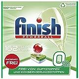 Finish 0% All in 1 Spülmaschinentabs, phosphatfrei – Geschirrspültabs gegen hartnäckigste Fettanschmutzungen – Ohne Duft- und Konservierungsstoffe – Großpackung mit 162 Finish Tabs