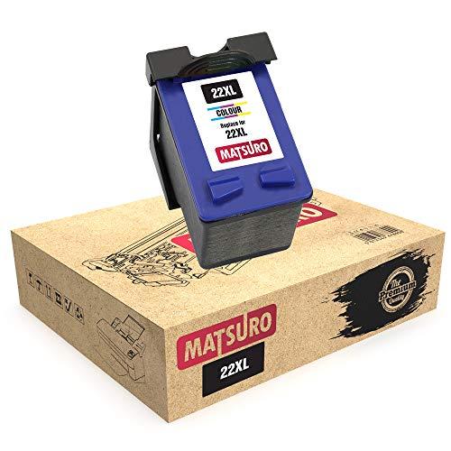 Matsuro Original | Kompatibel Remanufactured Tintenpatrone Ersatz für HP 22XL (1 Farbe)