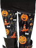 Plus Women's Ankle Length Skull Print Halloween Bat Leggings Elastic Waist Pants 3XL