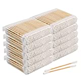 Lot de 1000 cotons-tiges, 100 % coton biologique biodégradables, écologiques en bois écologiques, durables et compostables (blancs)