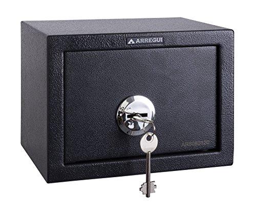 Arregui T17K Caja Fuerte de sobreponer sólo Llave.230x170x170mm, Gris Oscuro, 230 x 170 x 170 mm