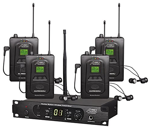 audio 2000s wireless headsets Audio2000'S In-Ear Audio Monitor System (AWM6306U)