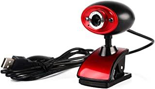 WXFXBKJ Computer USB High-Definition Webcam, Laptop Video Webcam Drive-Free, Good Night Vision with Microphone, Used for ...