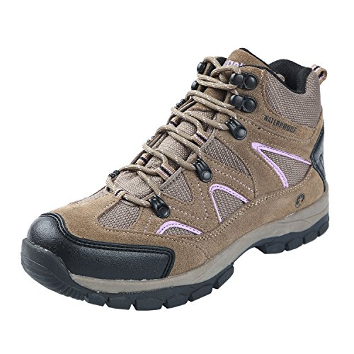 Northside Women's Snohomish-W Hiking Boot, Tan/Periwinkle, 7 M US