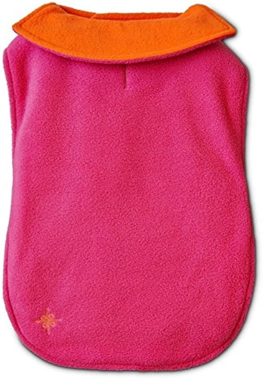 Good2Go orange & Pink Reversible Cozy Coat Dog Jacket Medium Large