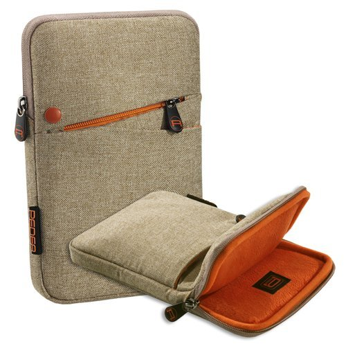 Pedea Tablet PC Tasche 'Fashion' für 7 Zoll (17,8cm) mit Zubehörfach, beige
