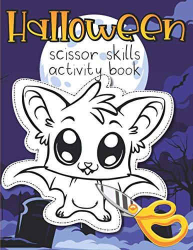 [画像:Halloween Scissor Skills Activity Book: Cutting Practice Gift for Childrens ages 4-8 full of Pumpkins Witches Monsters Ghosts and Sweets]