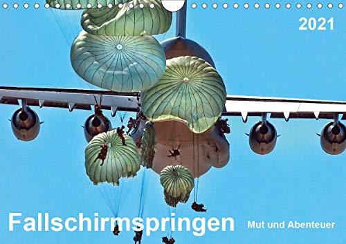 Fallschirmspringen - Mut und Abenteuer (Wandkalender 2021 DIN A4 quer)