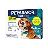 PETARMOR Plus for Dogs Flea and Tick Prevention for Dogs, Long-Lasting...
