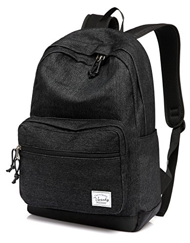 Denim Backpack for Man and Women,Vaschy School Backpack Casual Rucksack for 15 inch Laptop Travel...