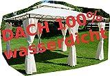 ASS Gartenpavillon Pavillon 3x4 Meter, 12m², Dach 100% wasserdicht und UV30+ Sonnenschutz, mit 6...