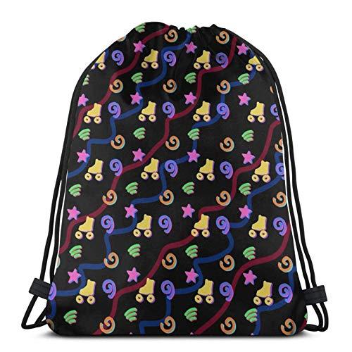 Hdadwy Roller Rink Carpet Sport Bag Gym Sack Drawstring Backpack for Gym Shopping