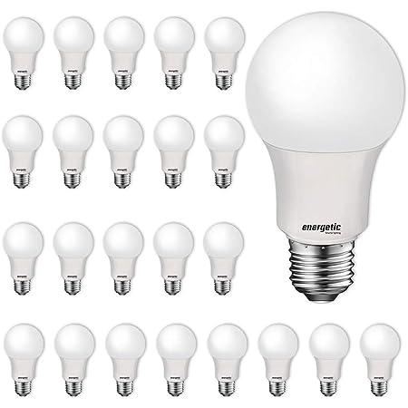 Amazon Basics 60 Watt Equivalent Soft White Non Dimmable 15 000 Hour Lifetime A19 Led Light Bulb 16 Pack