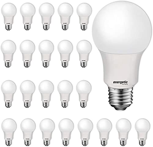 24 Pack LED Light Bulbs, 60 Watt Equivalent A19 LED Bulb, Soft White 2700K, Non-Dimmable, E26 Standard Base, UL Liste...