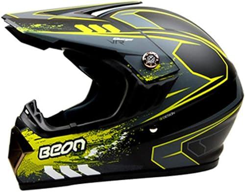 ETH Helm Offroad Helm Motocross Helm Pers ichkeit Motorradhelm Cross Country Helm - matt Schwarz- Grün -   Qualität (Größe   L)
