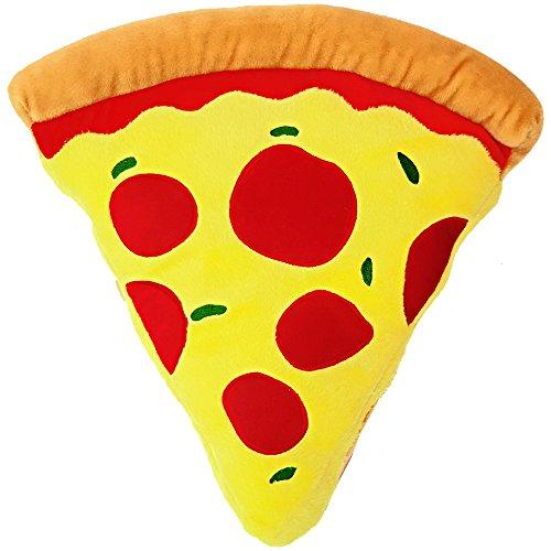 moodrush® Pizza Kissen - Pizzastück | Geschenk | alle Elemente aufgestickt (Nicht Bedruckt!) | waschbar | ca. 40x40 cm | Versand AUS Deutschland!