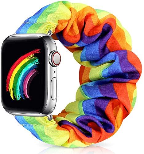 Zoholl - Correa de reloj elástica para Apple Watch 6 5 4 3 2 1 correa de reloj suave y cómoda correa elástica compatible con iWatch 38 mm 40 mm 42 mm 44 mm