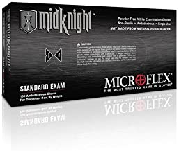 Microflex Midknight Powder-Free Medical Grade Nitrile Exam Gloves (1000 Gloves)