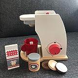 LON Kids Wooden Pretend Play SetsPretend Kinderspielzeugmischer Küche Lernspielzeug Toasters Bread Maker Kaffeemaschinenspiel, Kaffeemaschinenset