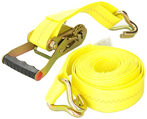KEEPER 04616 Heavy Duty 2' by 16' Ratcheting Tie Down, 10,000 lbs Rated Capacity with J-Hooks