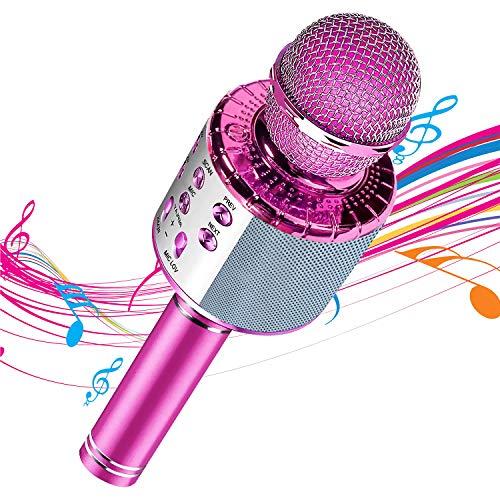 Microfono Karaoke wireless Bluetooth - Altoparlante portatile portatile Home KTV Player Registratore musicale con cambio di voce magica, compatibile con Android e iOS