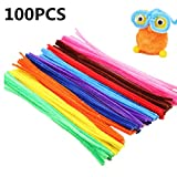 100 Pcs 10 Colors Pipe Cleaners, Pipe Cleaners Craft, Chenille Stems for Kids,Craft, DIY,Art, Decorations,...