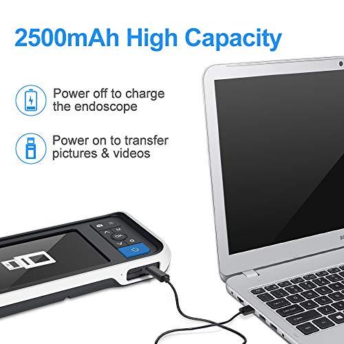スコープAnykitカメラ4.5inchモニター100万画素高画質3.9mm極細いレンズカメラ輝度調節可能のLEDライト6本IP67防水レベル家庭用(3.9mm-ブラケット型-白い)
